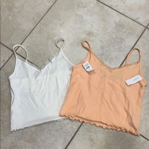 Bundle of 2 American Eagle Cropped Tank Top Camis